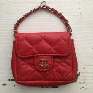 Vintage Red Micro Flap Belt Bag w/o Belt